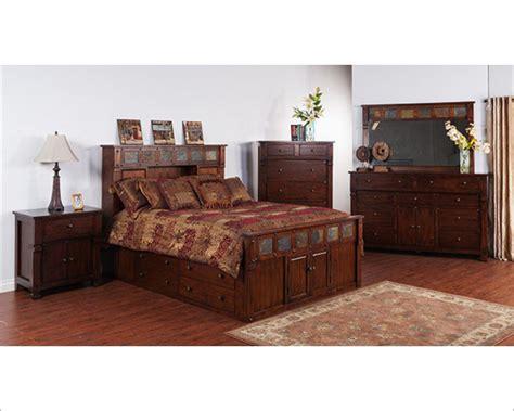 santa fe bedroom furniture storage bedroom set santa fe by sunny designs su 2322dc s set