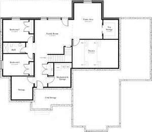 Two Story House Plans With Basement by Plan Number 2392 2 Needahouseplan