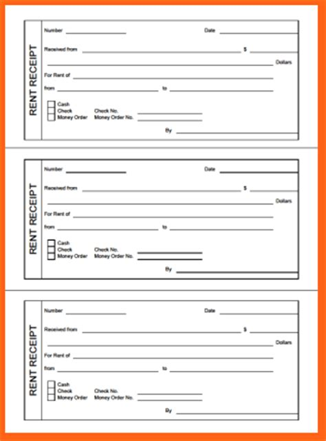 Free Printable Receipt Template by 7 Free Printable Receipts Budget Template Letter