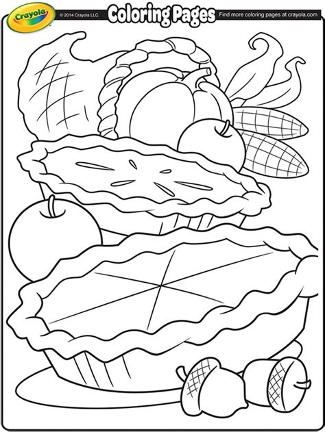 crayola thanksgiving coloring pages printables cornucopia coloring page crayola com
