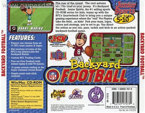 backyard baseball humongous entertainment backyard football scummvm games database