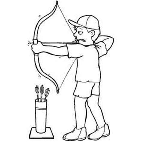 coloring page bow and arrow archery coloring page