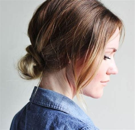 Easy Hairstyles For Medium Hair With Bangs by 20 Easy Updos For Medium Hair