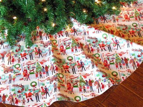 christmas tree skirt retro tree skirt mid century tree