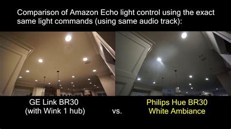 amazon echo hue lights commands ge link vs philips hue lights controlled by amazon echo