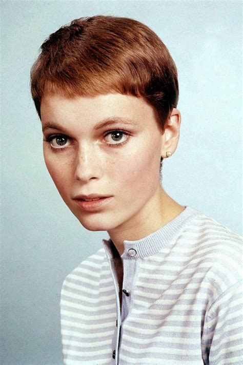 Mia Farrow Haircut | 30 beautiful portraits of mia farrow with pixie haircut in