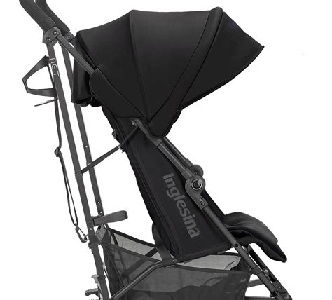 reclined position inglesina net stroller black