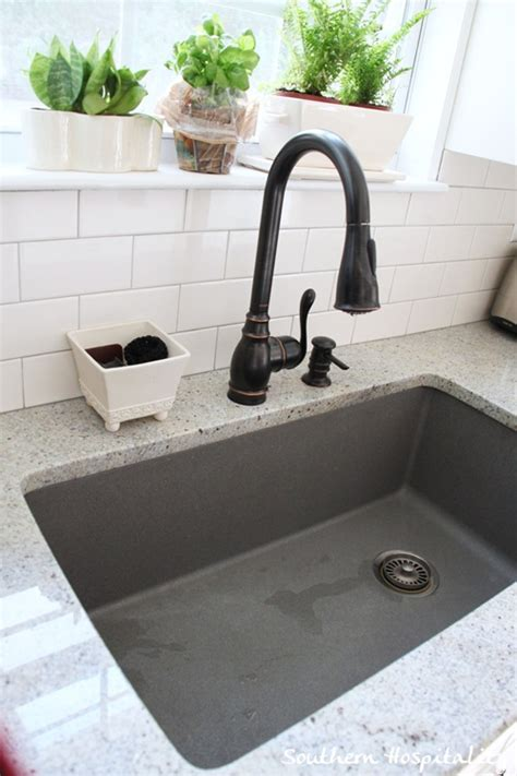 grey kitchen sink metallic gray blanco sink southern hospitality