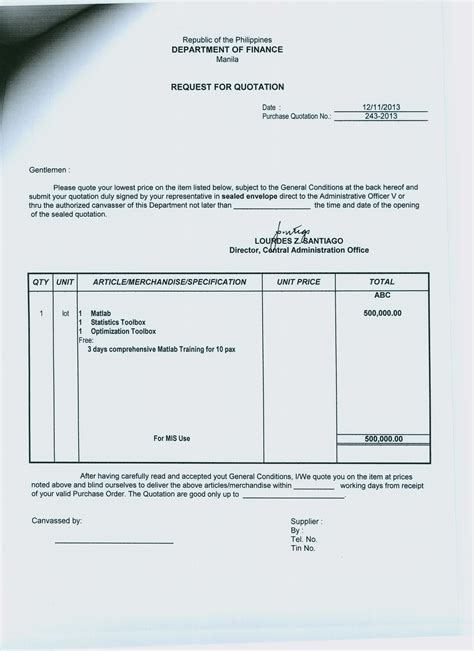 Service Quotation Letter Template sle quotation sle ideas