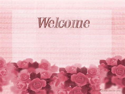 Welcome Background For Powerpoint Free Valentines Powerpoint Presentation Backgrounds