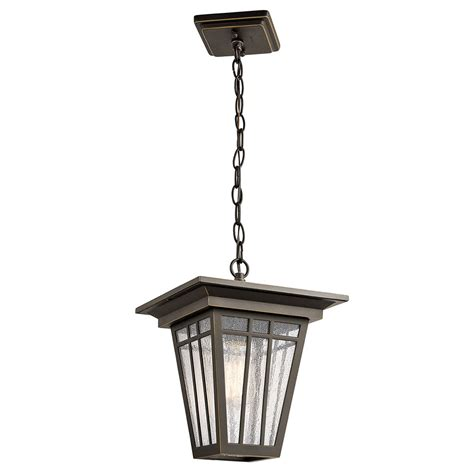 Light Fixture Kichler 49678oz Woodhollow Olde Bronze Exterior