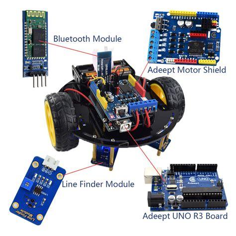 adeept wd bluetooth smart robot car kit  arduino uno