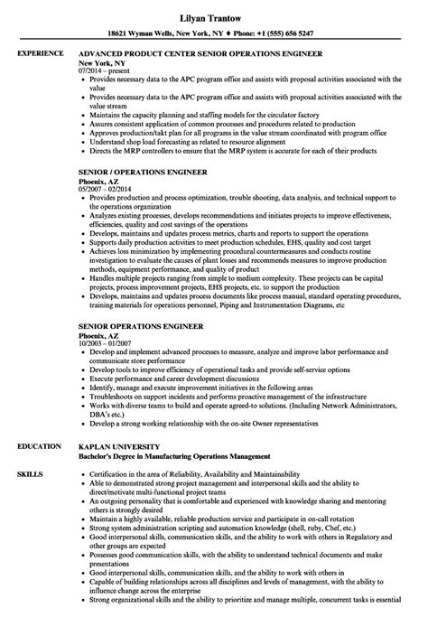 resume operating engineer occupational health and safety