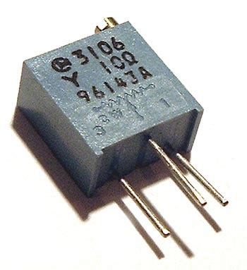 what is trimmer resistor 10 ohm trimmer trim pot variable resistor 3106y west florida components