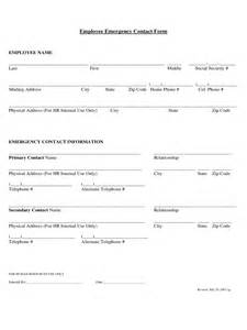 employee emergency contact form 2 free templates in pdf