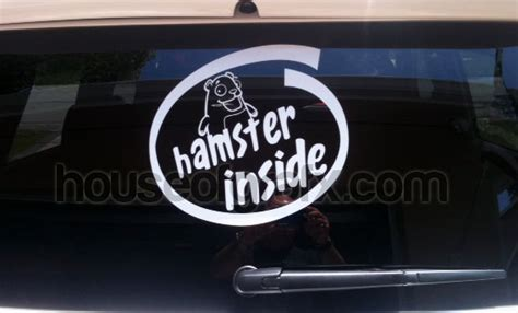 Kia Soul Hamster Decal Happy Hamster Inside Decal Decals Sticker Fits Any Kia