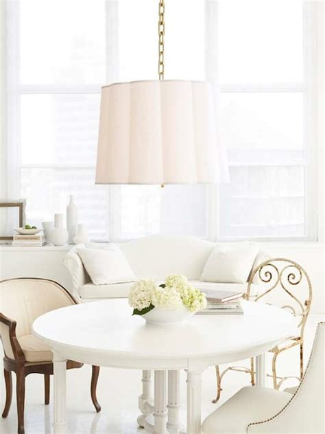 Barbara Barry Dining Room by Barbara Barry Scallop Chandelier Transitional Dining