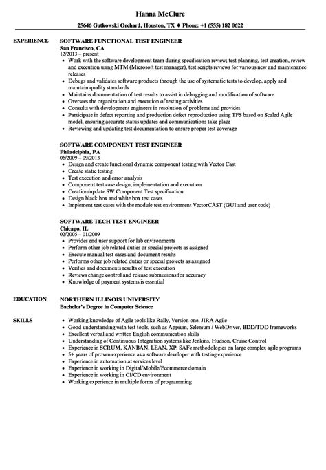 test engineer test engineer software resume sles velvet