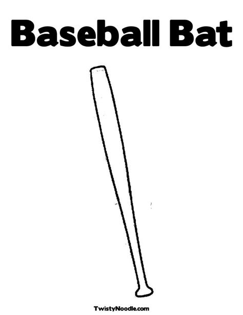 baseball bat template
