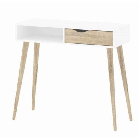 white oak desk 1 drawer desk in white oak 7538849ak