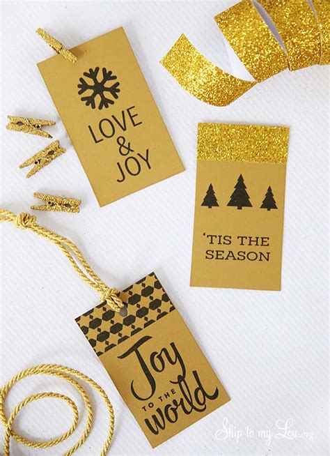 printable gift tags gold printable christmas gift tags skip to my lou