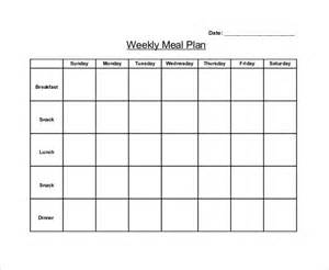 Blank Weekly Menu Template by 30 Blank Menu Templates Free Sle Exle Format