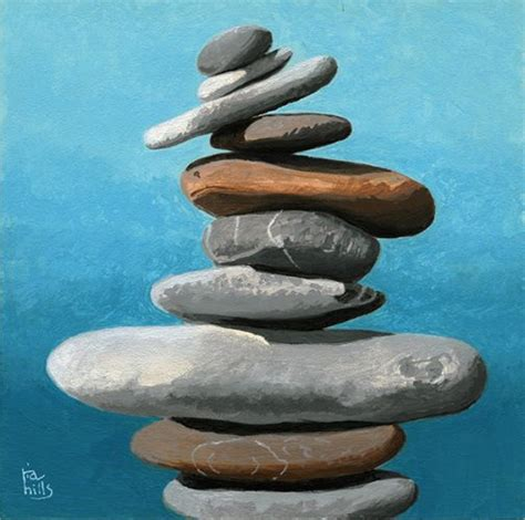 acrylic painting rocks stacked rocks cairn acrylic painting ria