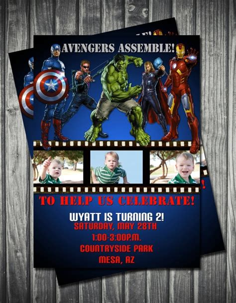 marvel birthday card template birthday invitation cards birthday invitations
