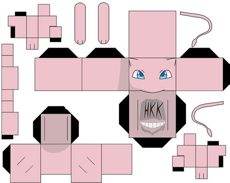 Mew Papercraft - mew alt by hollowkingking on deviantart