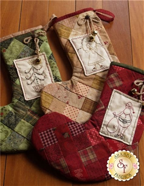 patchwork christmas stockings pattern