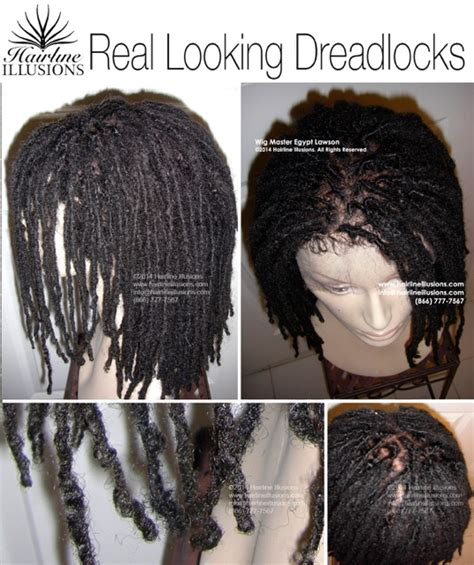 hair illusions dreads glue less silicone wig