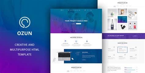 Ozun Multipurpose Html Template By Templines Themeforest Themeforest Website Templates Free