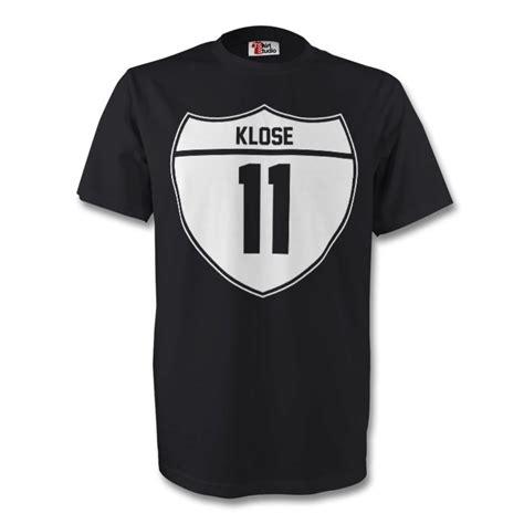Tshirt Klose miroslav klose germany crest black tshirtblack