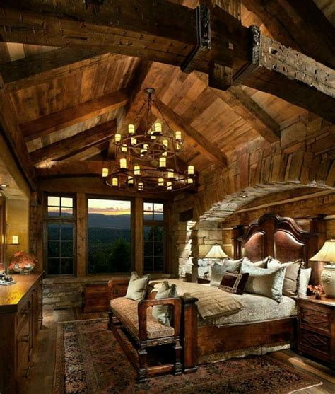 Lodge Bedroom Decorating Ideas by Best 25 Log Cabin Bedrooms Ideas On Log Cabin