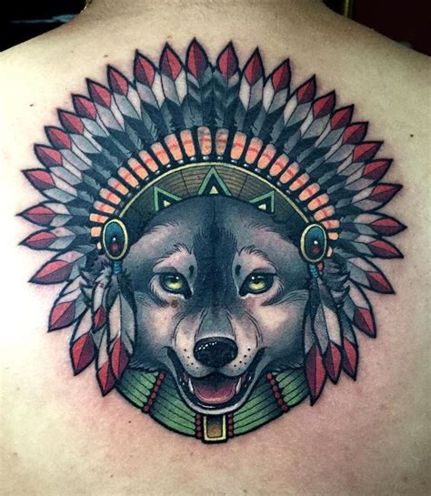 Amazing Wolf Tattoo Idea Best Designs With Meaning American Indian Wolf Tattoos