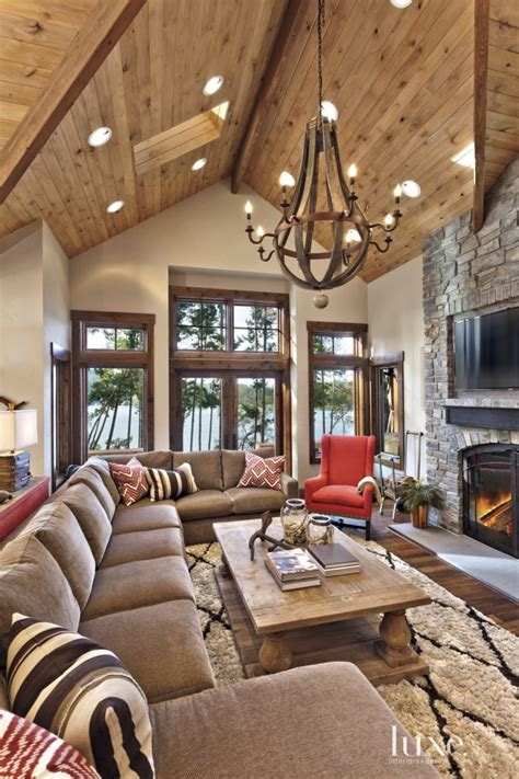 mountain homes interiors the restoration hardware chandelier made of wine barrels