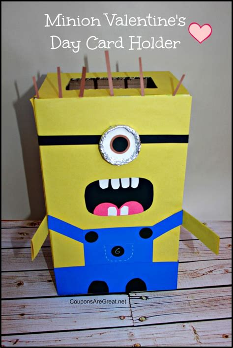 how to make a minion valentines day box minion s day card holder