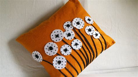 How To Design Pillow Covers - diy home decor cushion cover felted pillow