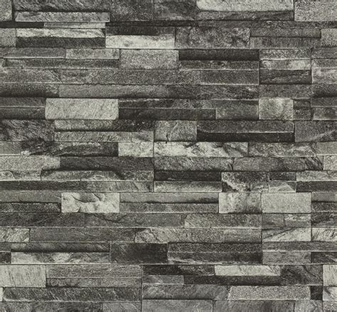 steinfliesen wand grau slate brick effect textured wallpaper 3d vinyl grey