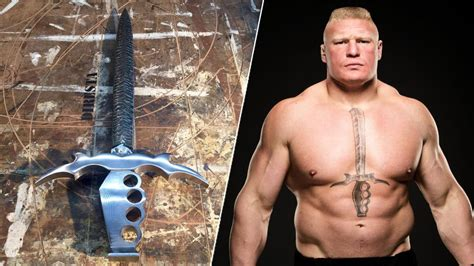 brock lesnar chest tattoo brock lesnar s comes to