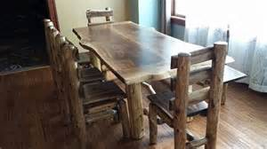 Black Walnut Kitchen Table Custom Black Walnut Kitchen Table By Meyers Log Furniture Custommade