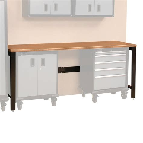 tool storage bench shop international tool storage 84 in w x 36 in h wood work bench at lowes com