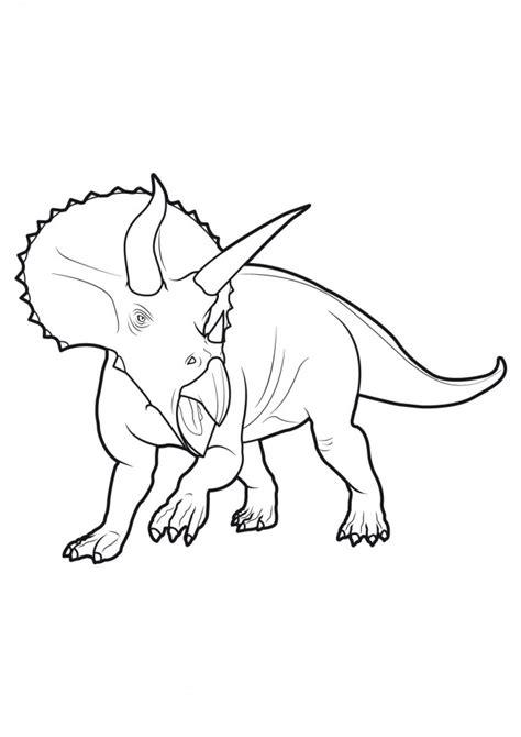 Coloriage Dinosaure tricératops féroce