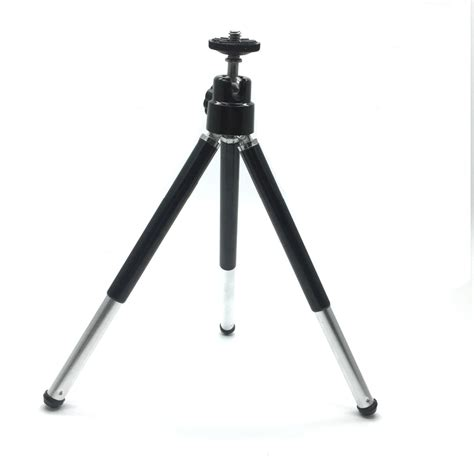 Tripod Stand 4 Section Aluminum Brown mini lightweight 2 sections table tripod stand selfie