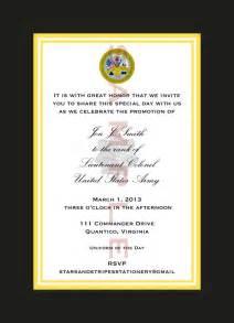 military promotion invitation templates