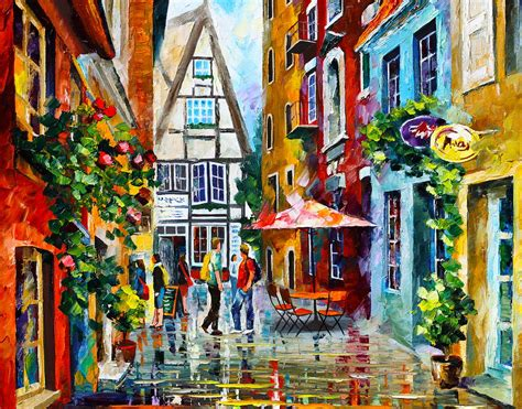 Home Decor Montreal amsterdam street painting by leonid afremov