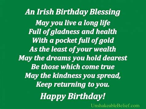 Birthday Wishes To Quotes Irish Blessing Birthday Quotes Wishes Yourbirthdayquotes Com