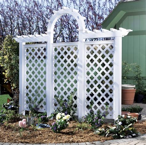 arched trellis woodworking plan from wood magazine