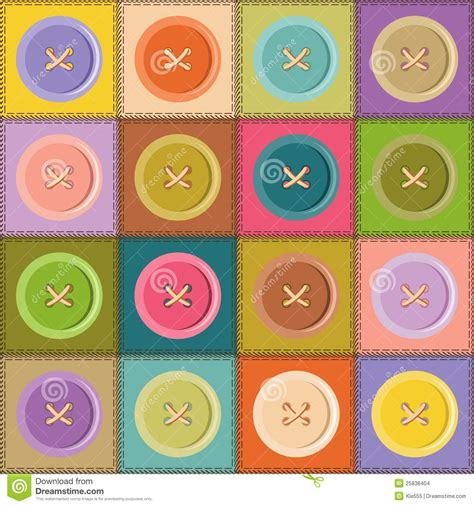 As A Button Patchwork - patchwork background with buttons stock images image