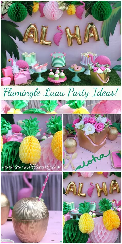 summer party decorations let s flamingle luau summer party ideas laura s little